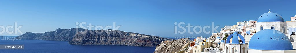 Oia Panoramic, Santorini, Greece royalty-free stock photo