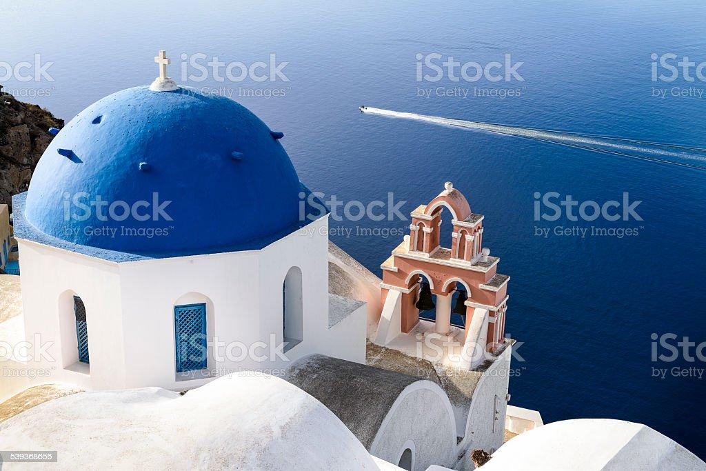 Oia Santorini sprit stock photo