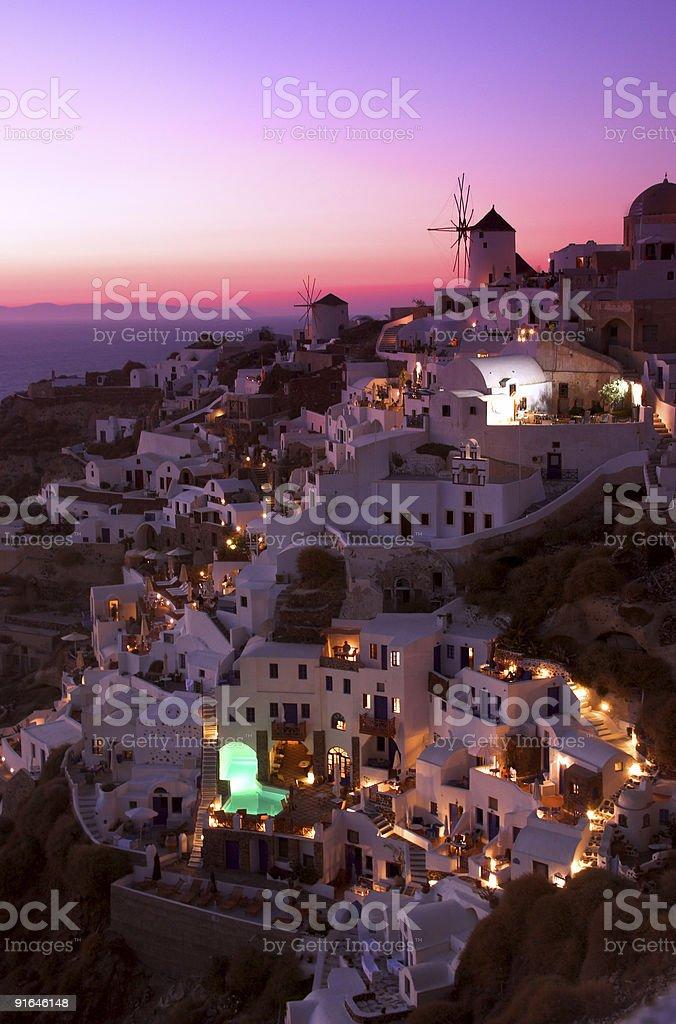 Oia sunset royalty-free stock photo