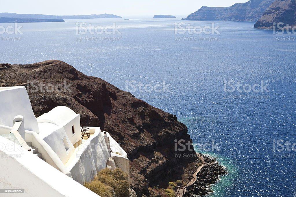 Oia (Ia) view stock photo