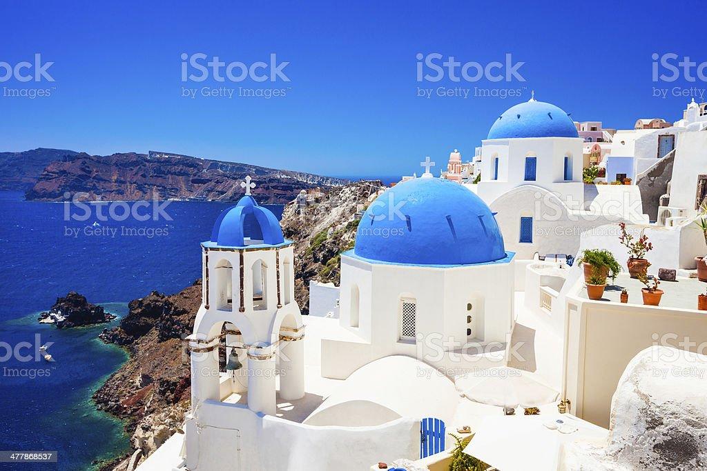 Oia (Ia) village on Santorini island, Greece royalty-free stock photo