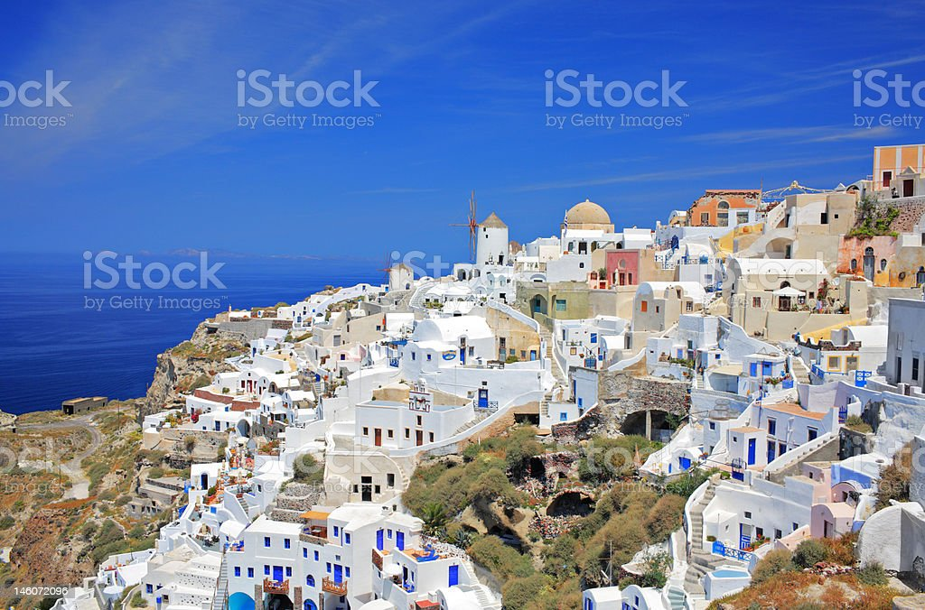 Oia village on Santorini island royalty-free stock photo