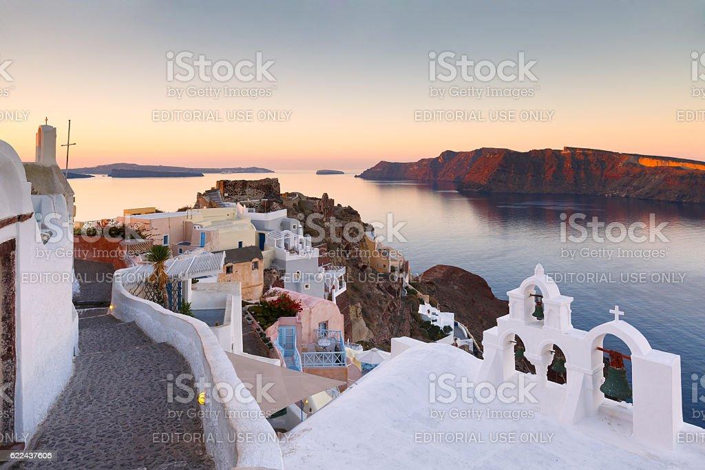 Oia village, Santorini. stock photo