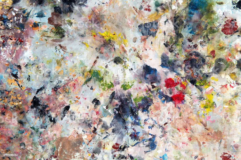 Oil abstract painting stock photo