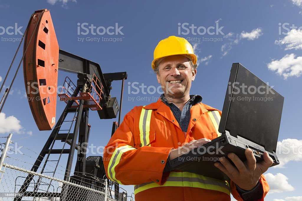 Oil and Computing royalty-free stock photo