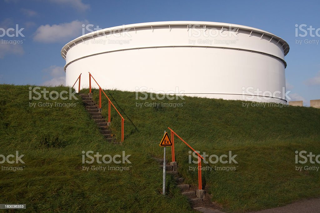 Oil and Fuel Storage Tanks in port of Rotterdam, Netherlands royalty-free stock photo