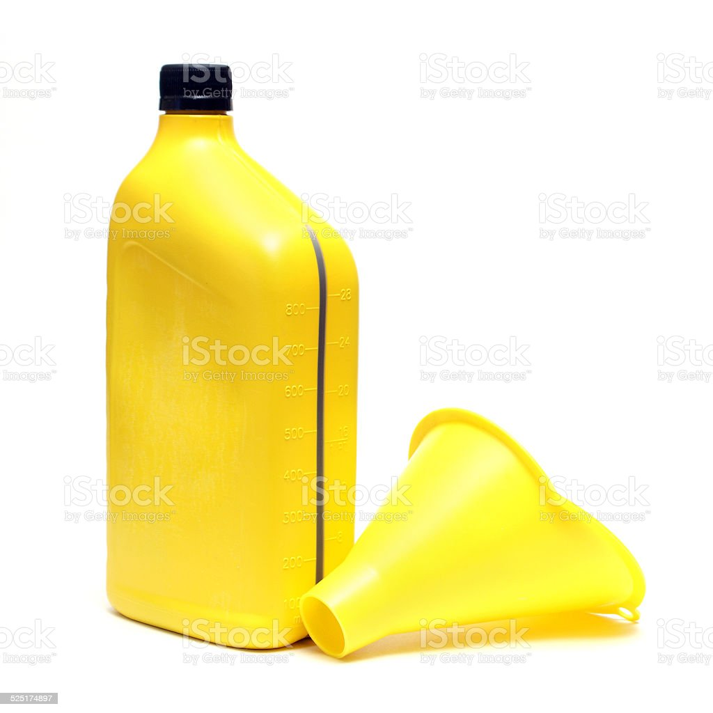Oil and Funnel stock photo