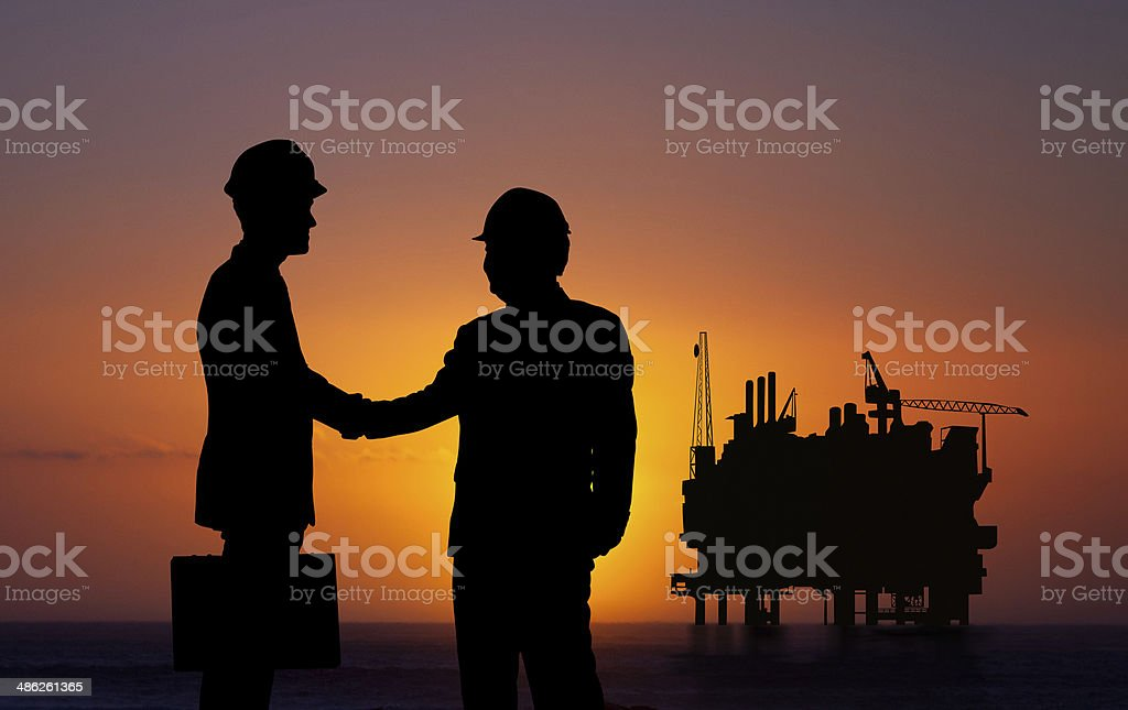 Oil and gas business stock photo