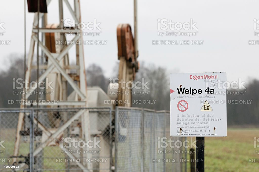 Oil and gas drilling in Northern Germany stock photo