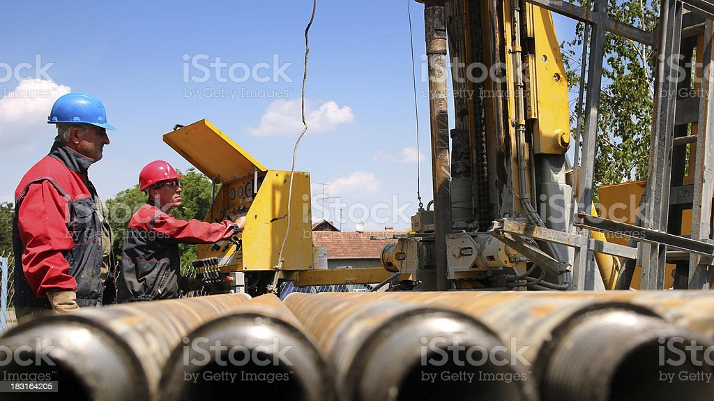 Oil and Gas Drilling Rig stock photo