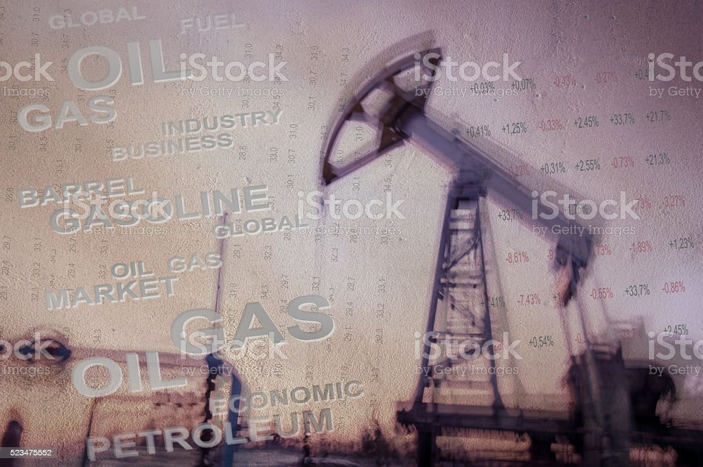 Oil and gas industry background. stock photo