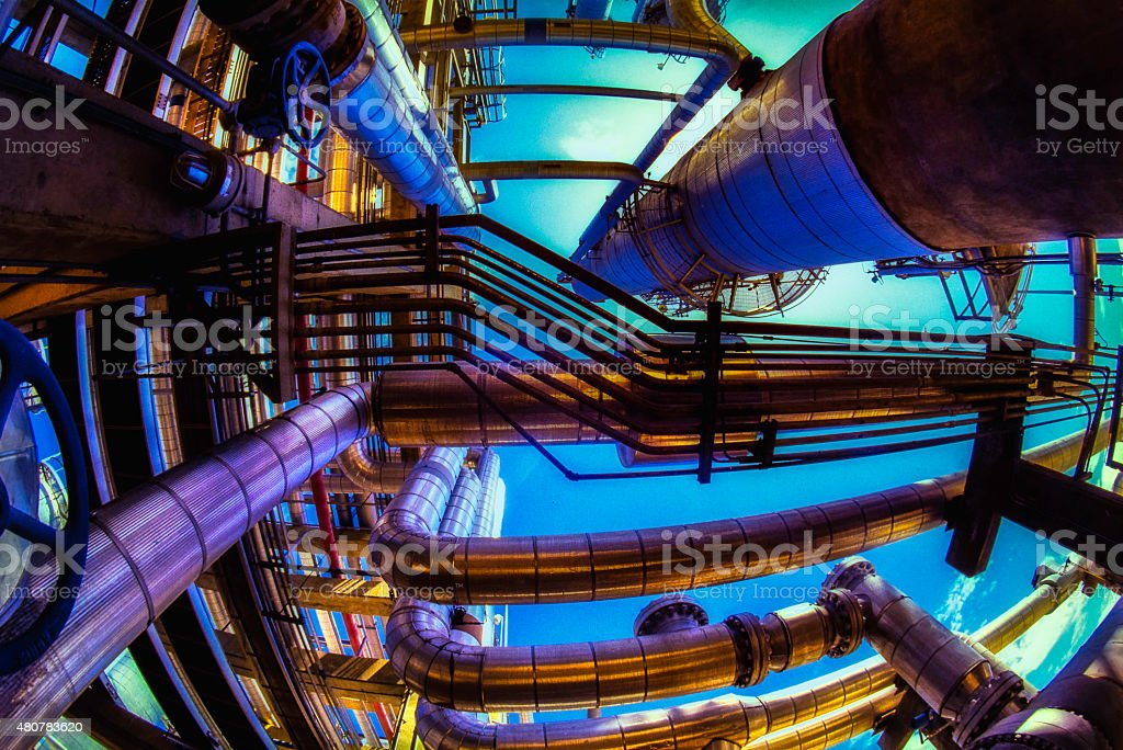 Oil And Gas Industry - Full Capacity stock photo