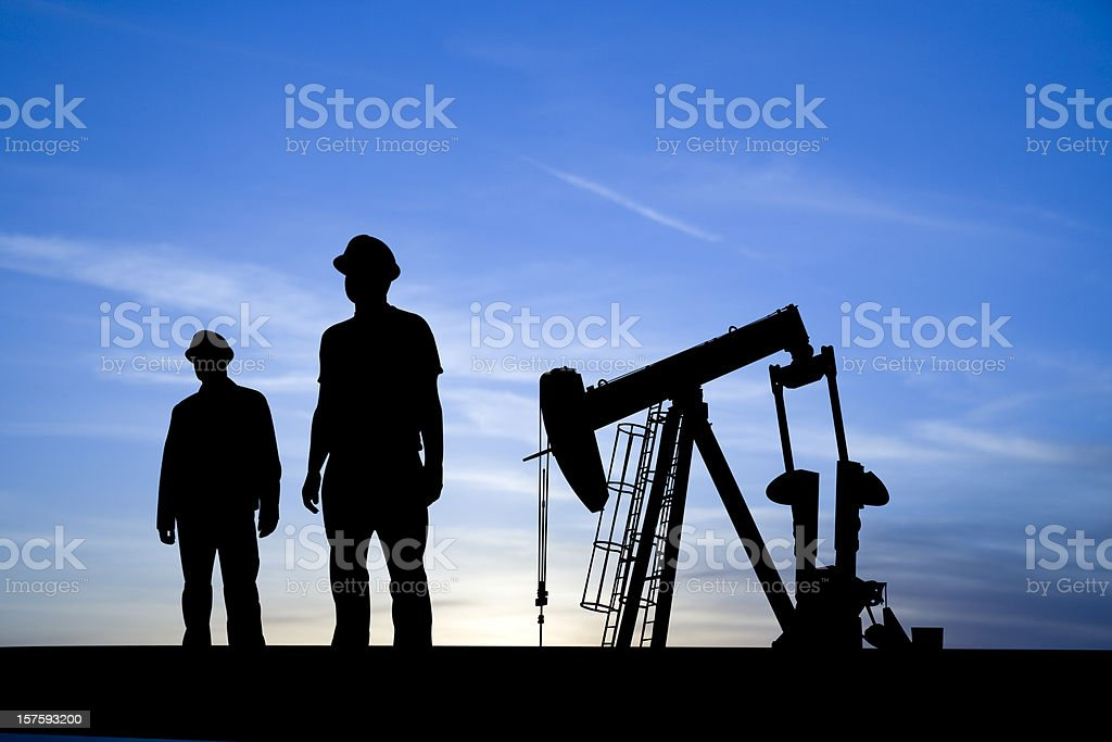 Oil and Gas Industry Icons royalty-free stock photo