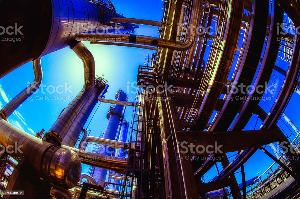 Oil And Gas Industry Low Angle stock photo
