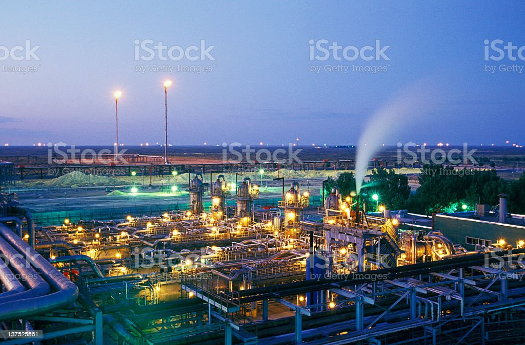 Oil and gas industry. royalty-free stock photo