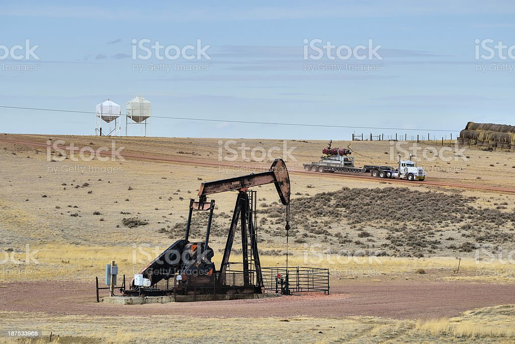 Oil and Gas Industry, Wyoming stock photo