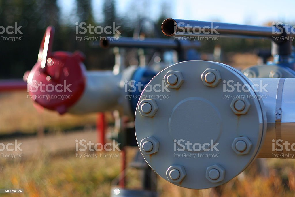 Oil and Gas royalty-free stock photo