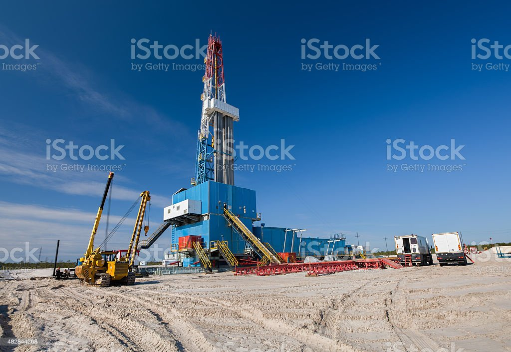 oil and gas production stock photo