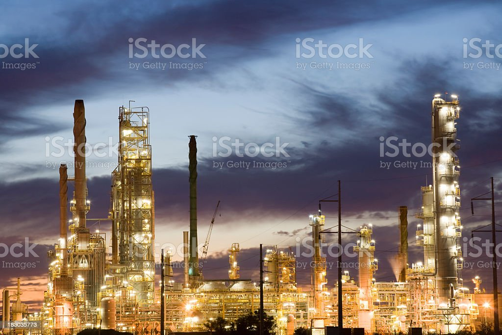 Oil and Gas Refinery royalty-free stock photo