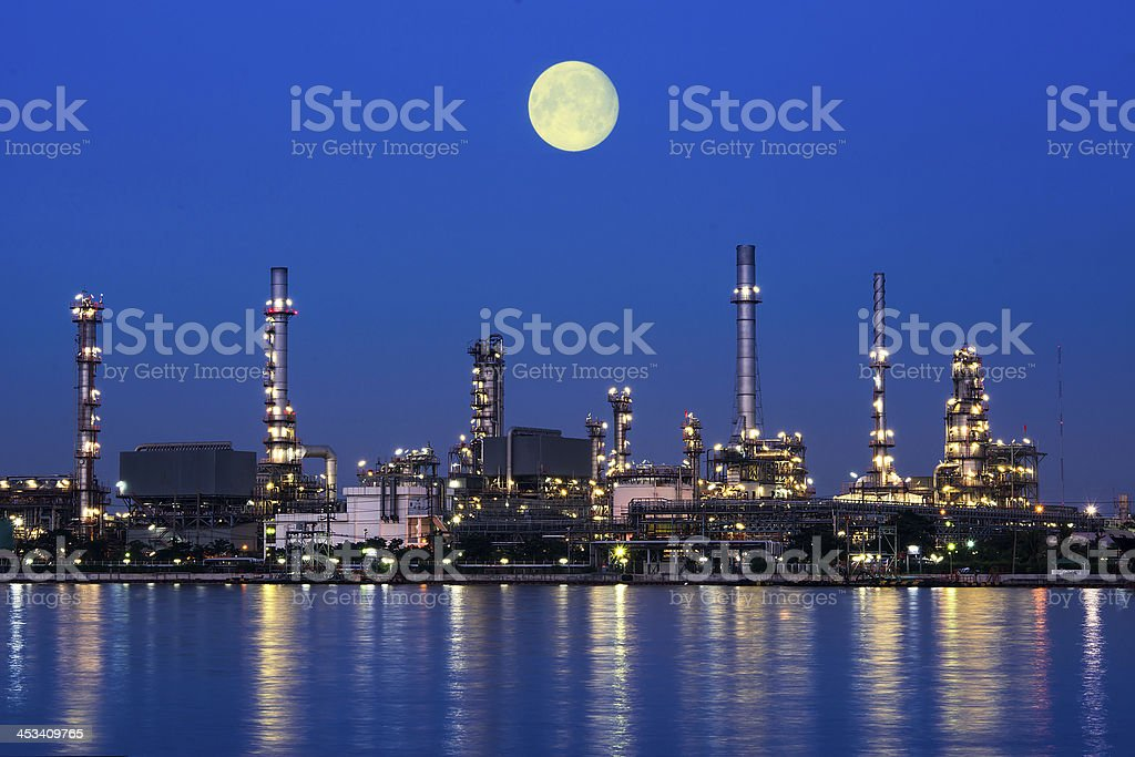 Oil and gas Refinery plant stock photo