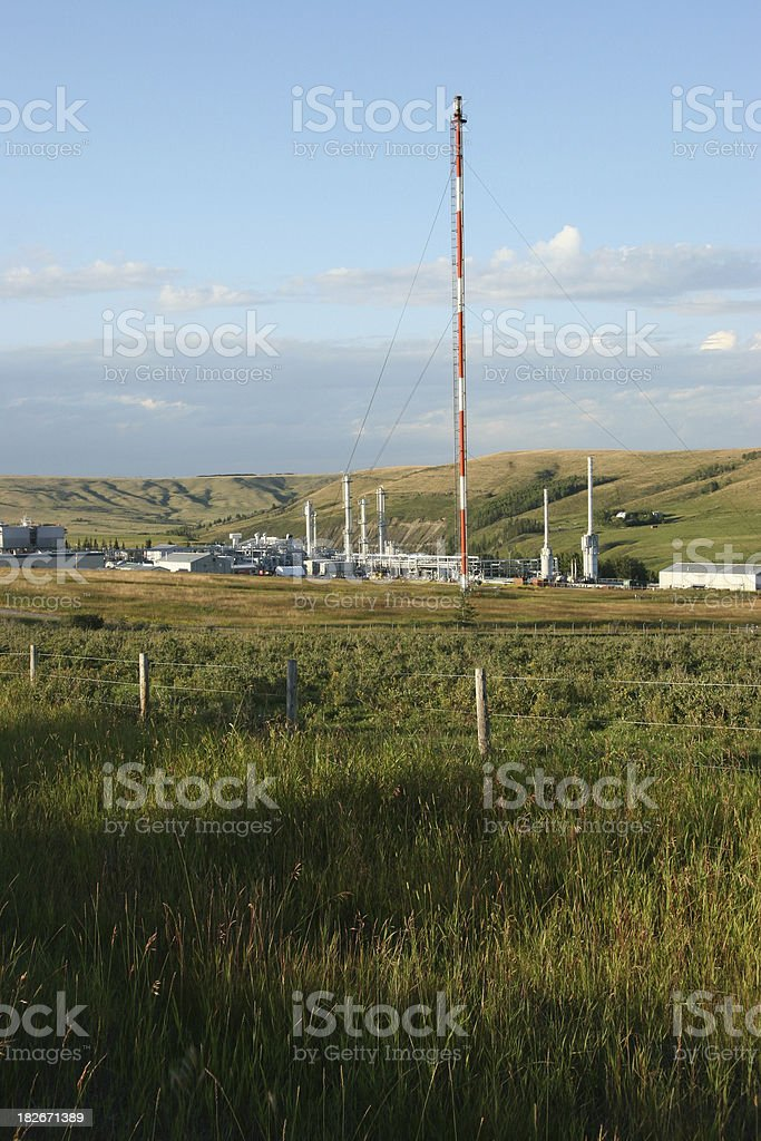 Oil and Gas Refinery/Gas Plant royalty-free stock photo