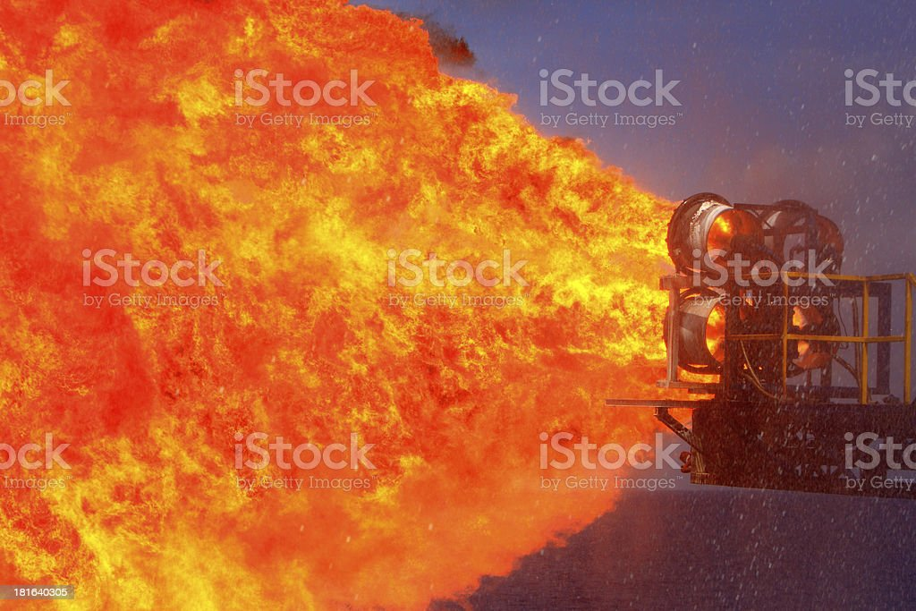 oil and gas rig stock photo