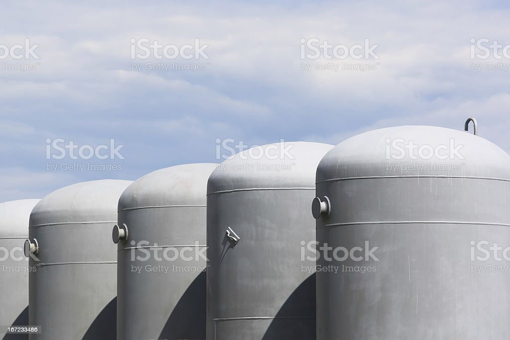 Oil and gas tanks royalty-free stock photo
