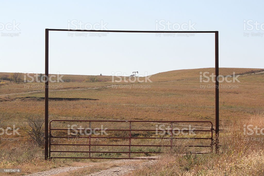 oil and grass land stock photo