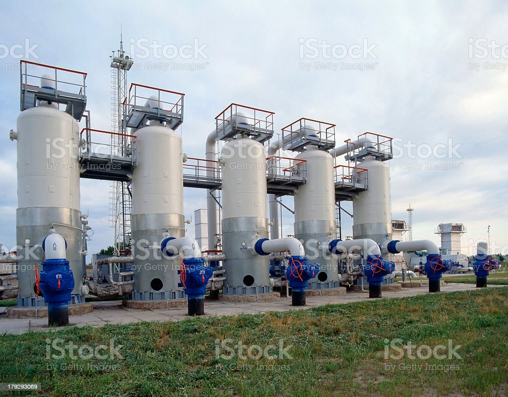 Oil and natural gas industry factory stock photo