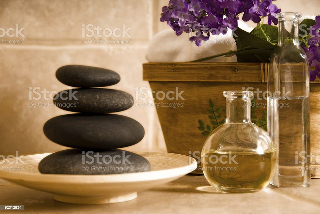 Oil and stones royalty-free stock photo
