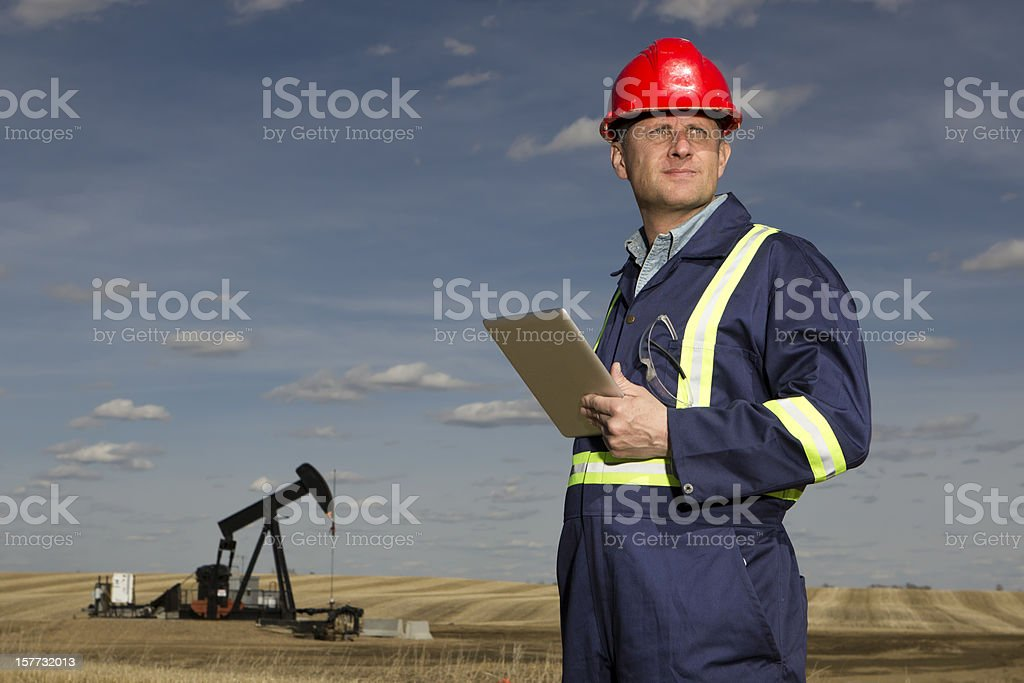 Oil and Tablet royalty-free stock photo