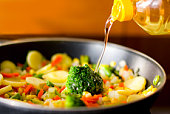 oil and vegetables