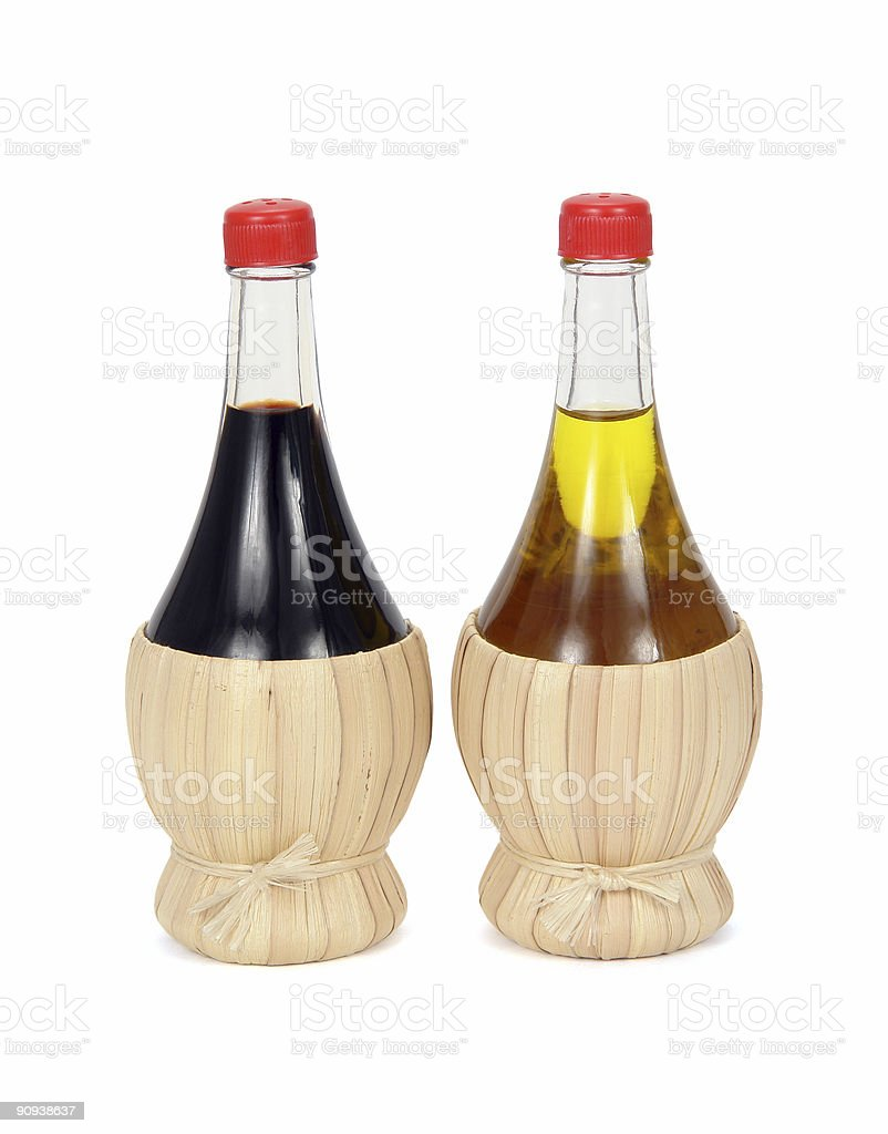 Oil and vinegar royalty-free stock photo