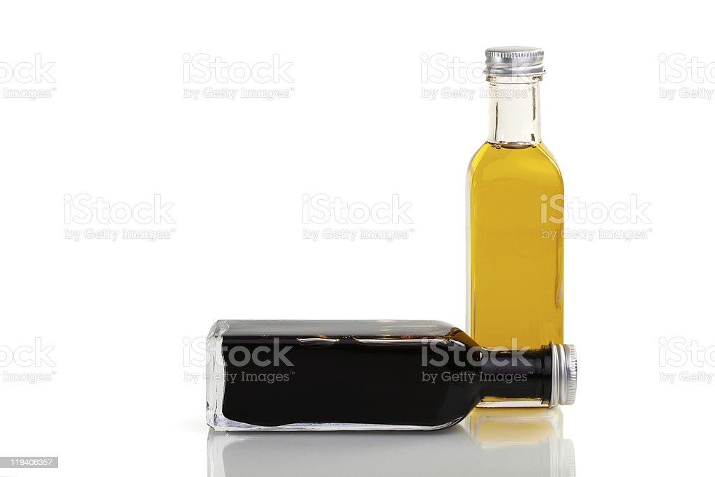 Oil and vinegar set royalty-free stock photo