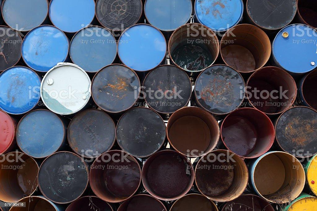 oil barrel background stock photo