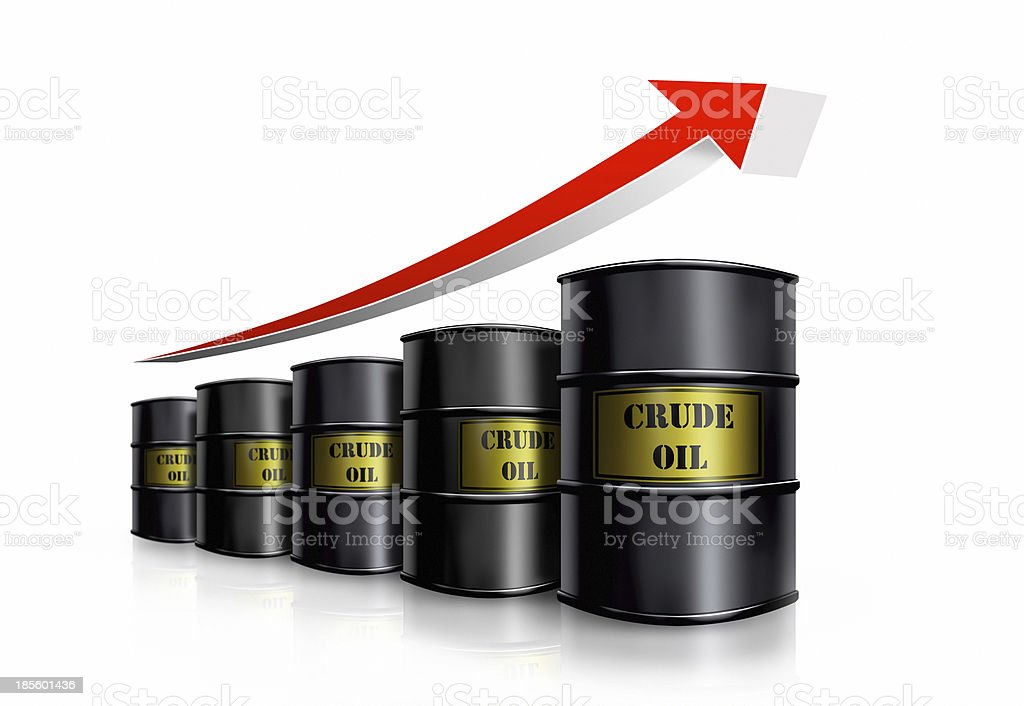 oil barrel cost royalty-free stock photo