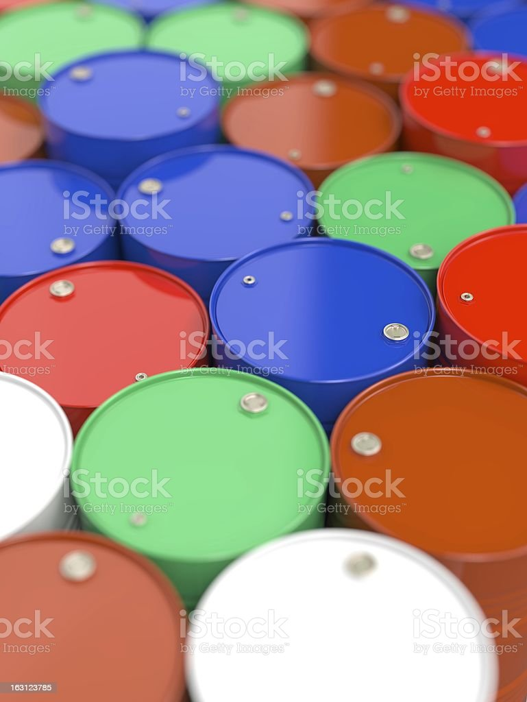 Oil Barrels. royalty-free stock photo