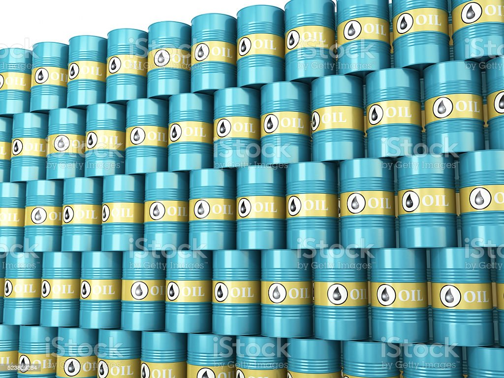 Oil Barrels stock photo