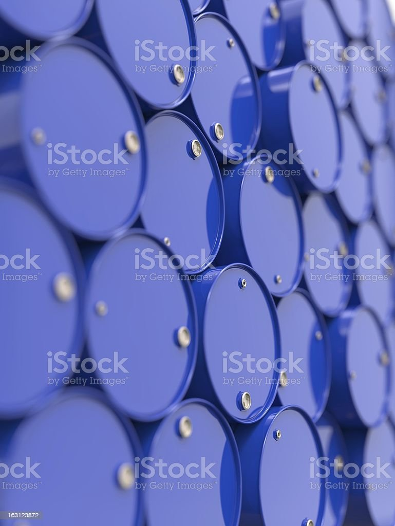 Oil Barrels Stacked Up. royalty-free stock photo