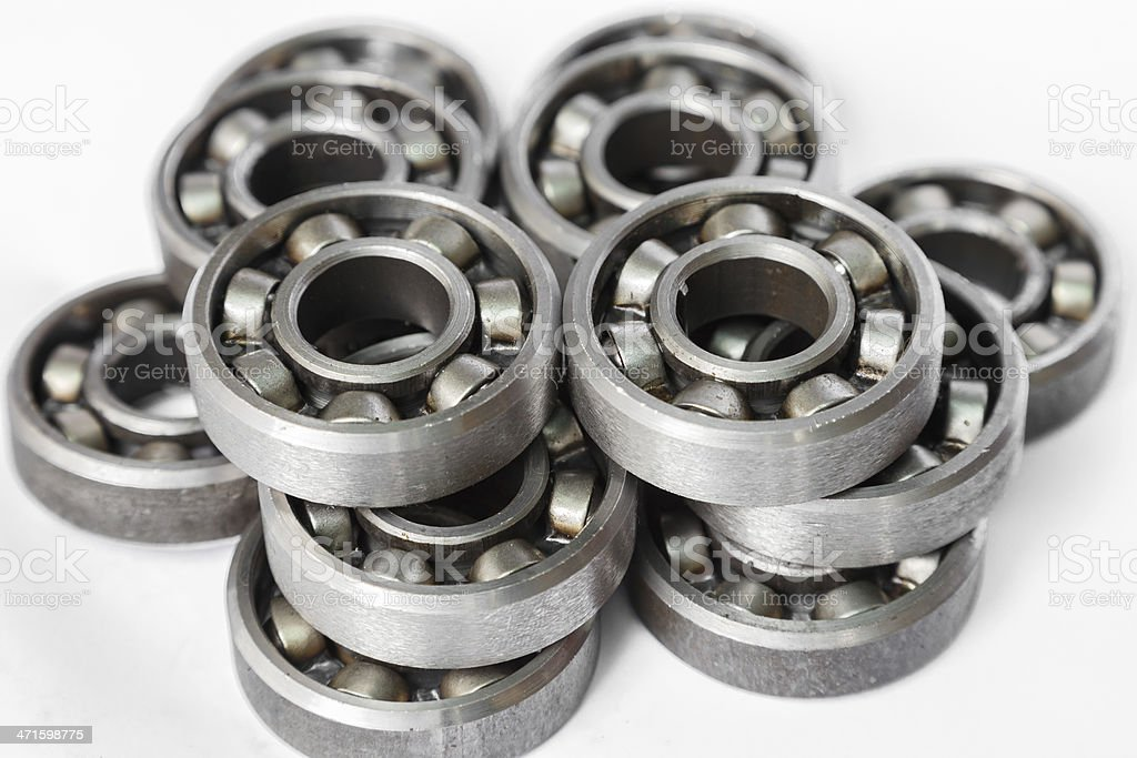 oil bearing closeup for factory with mechanism royalty-free stock photo