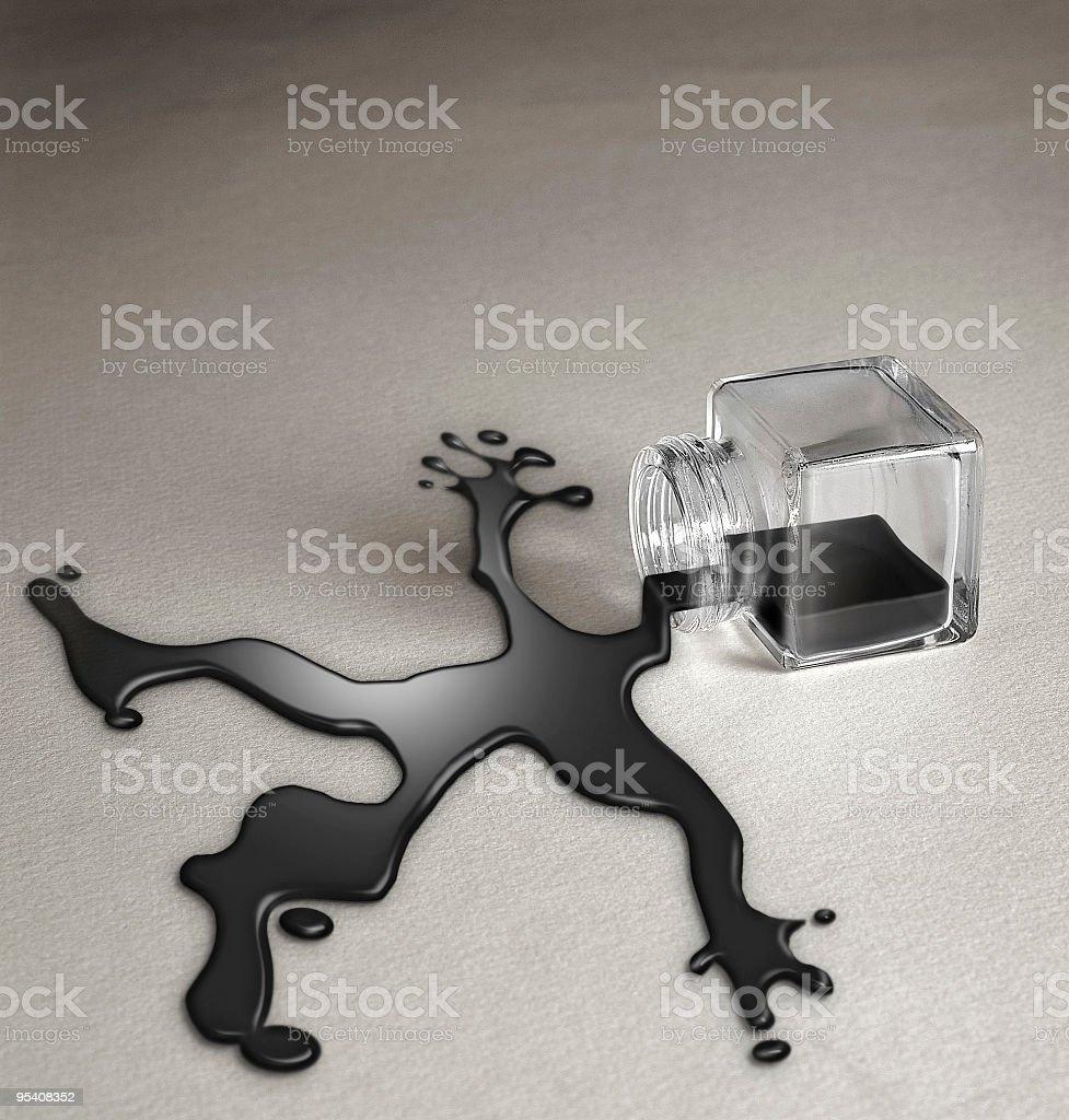 Oil Body Silhouette royalty-free stock photo