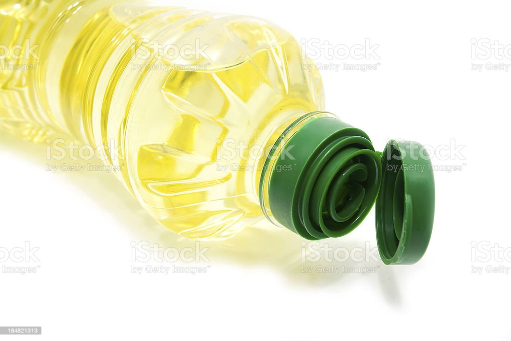 Oil Bottle on the White Background royalty-free stock photo