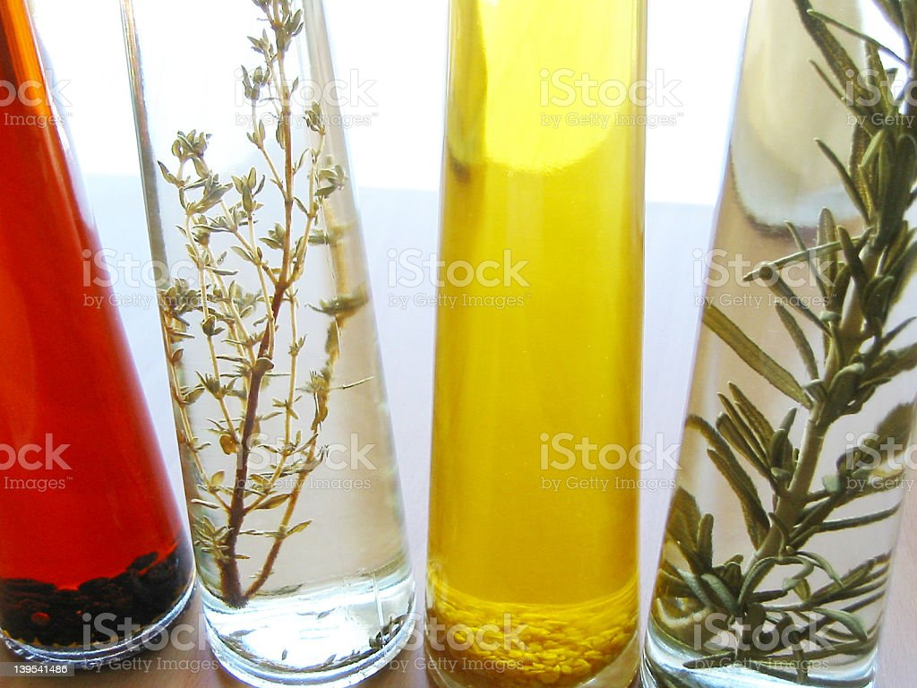 oil bottles royalty-free stock photo