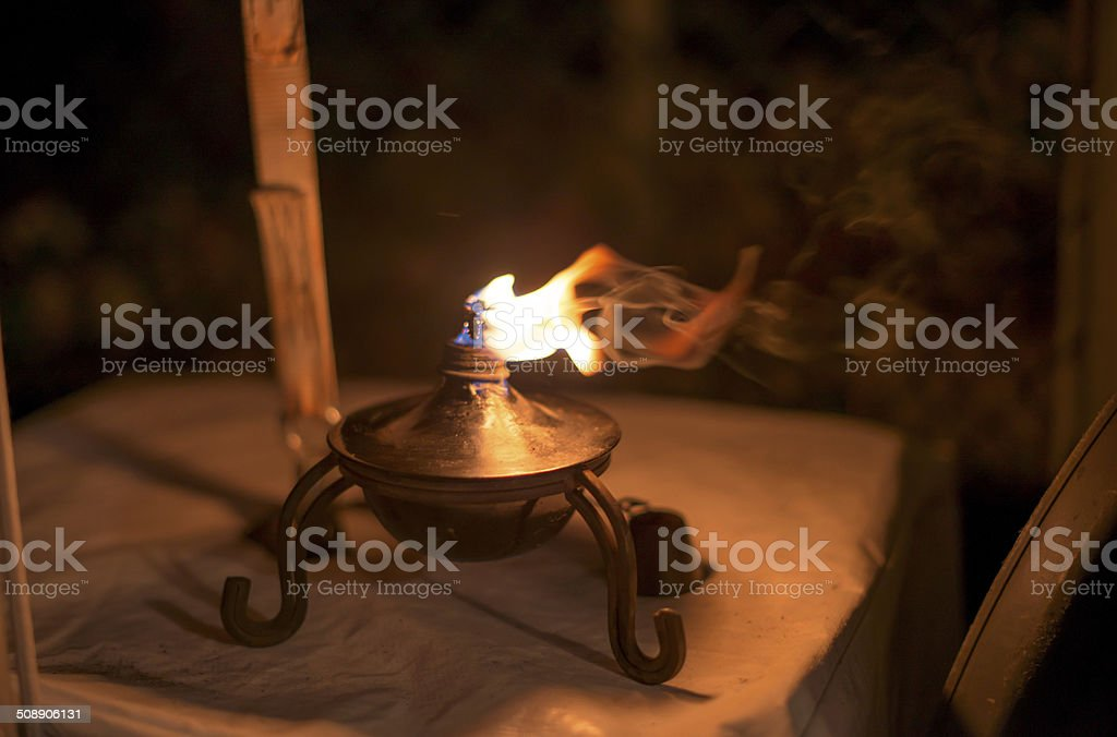 Oil Candle stock photo