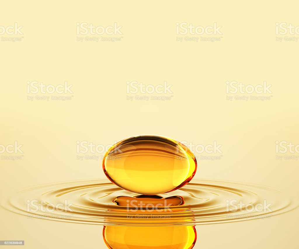 Oil Capsule On The Oil stock photo