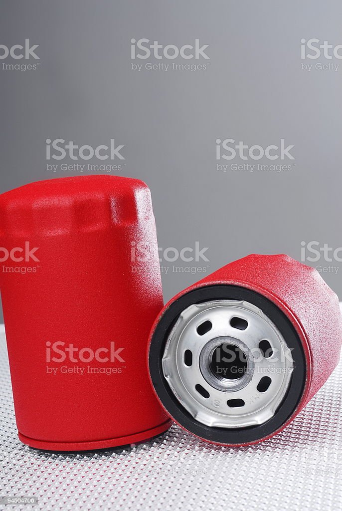 Oil Change Filters stock photo