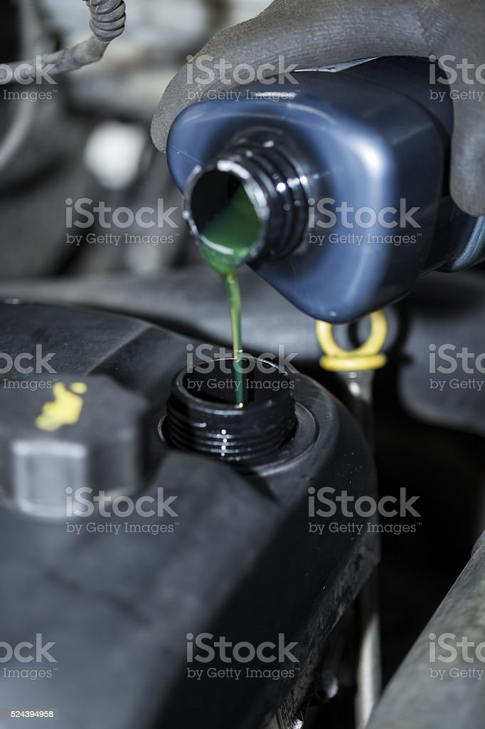 Oil change stock photo