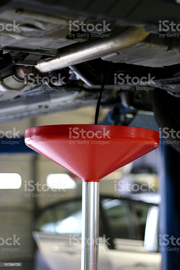 Oil Change Vertical royalty-free stock photo