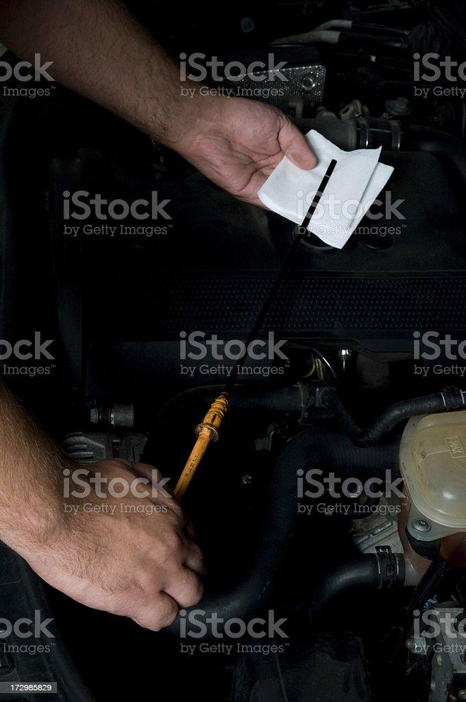 Oil Checking royalty-free stock photo