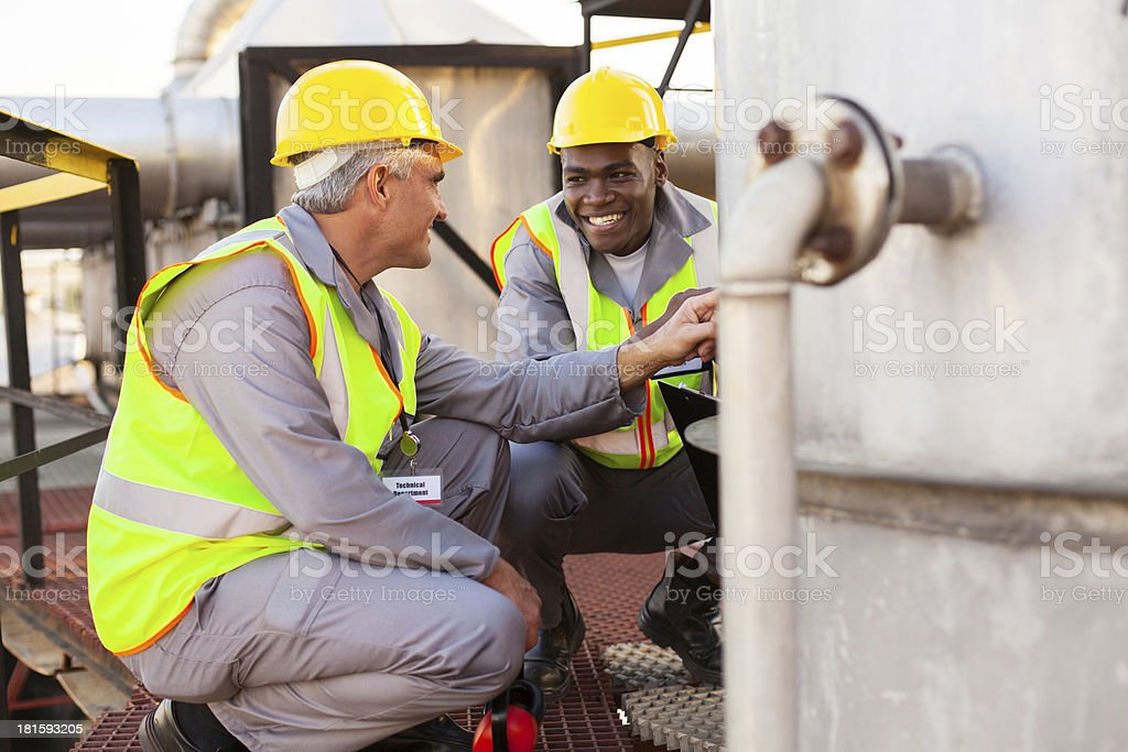 oil chemical industry technicians stock photo
